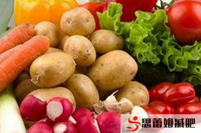 运动减肥训练营里的蔬菜